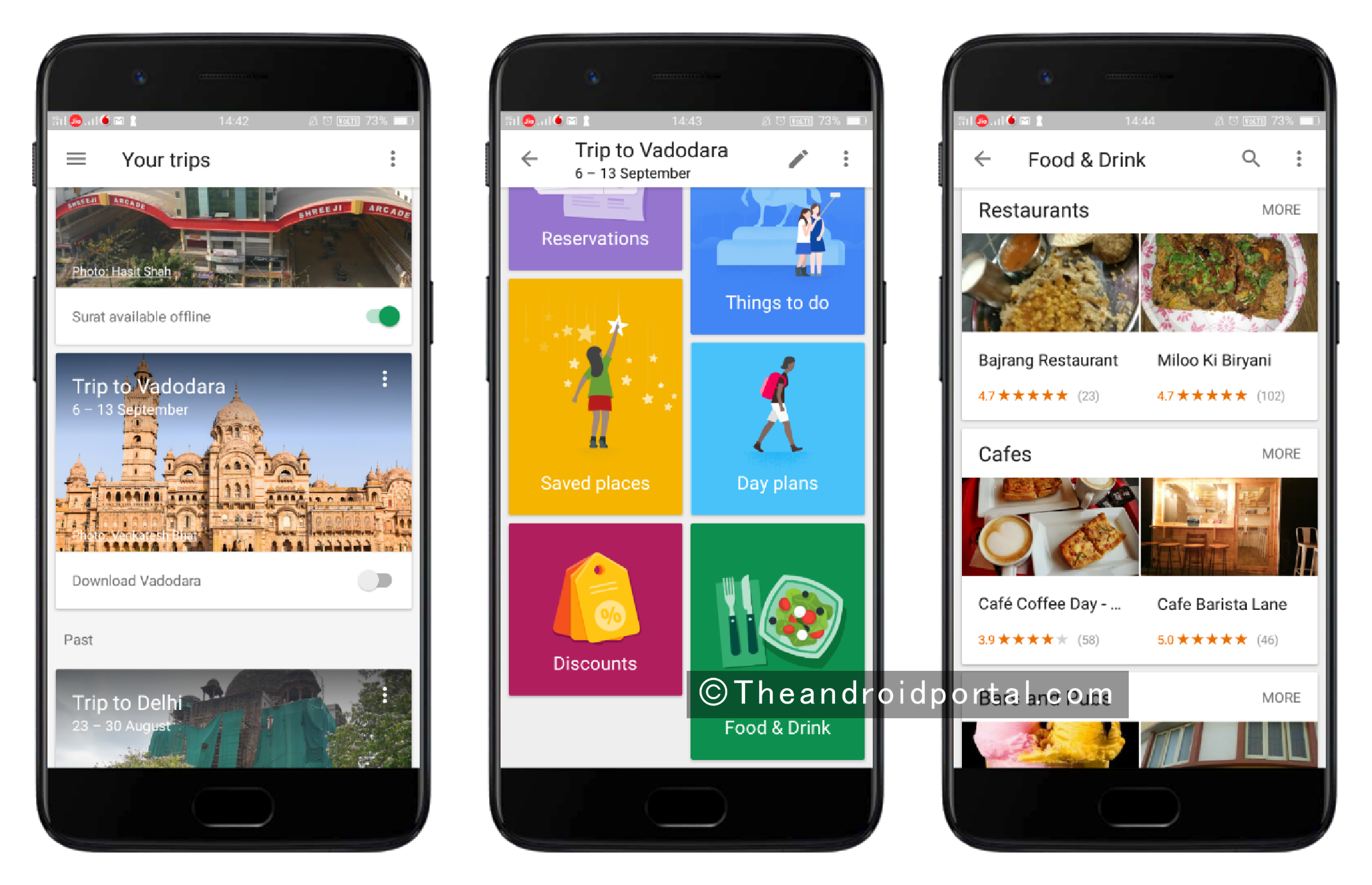 Find Best Food and Drinks near the Destination - theandroidportal.com