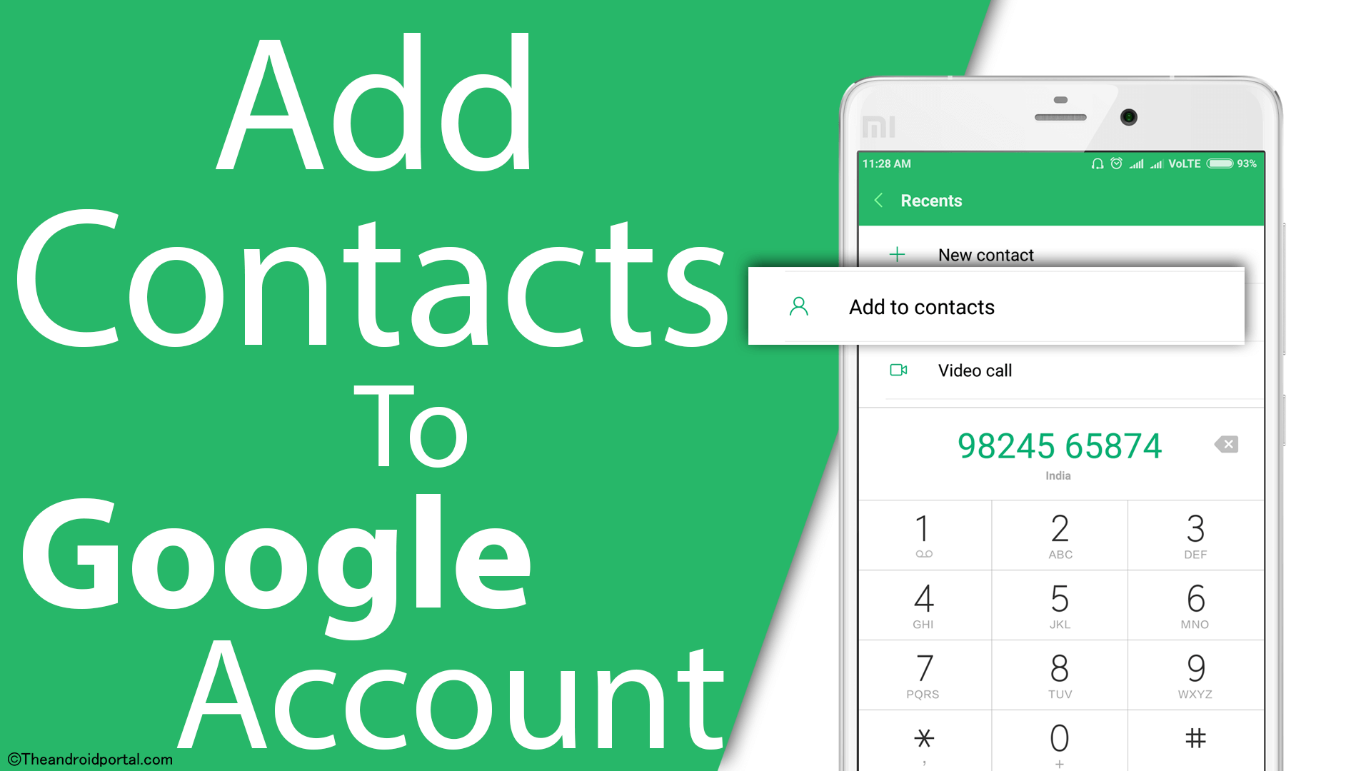 How to Add contacts in Google Account on Android Smartphone