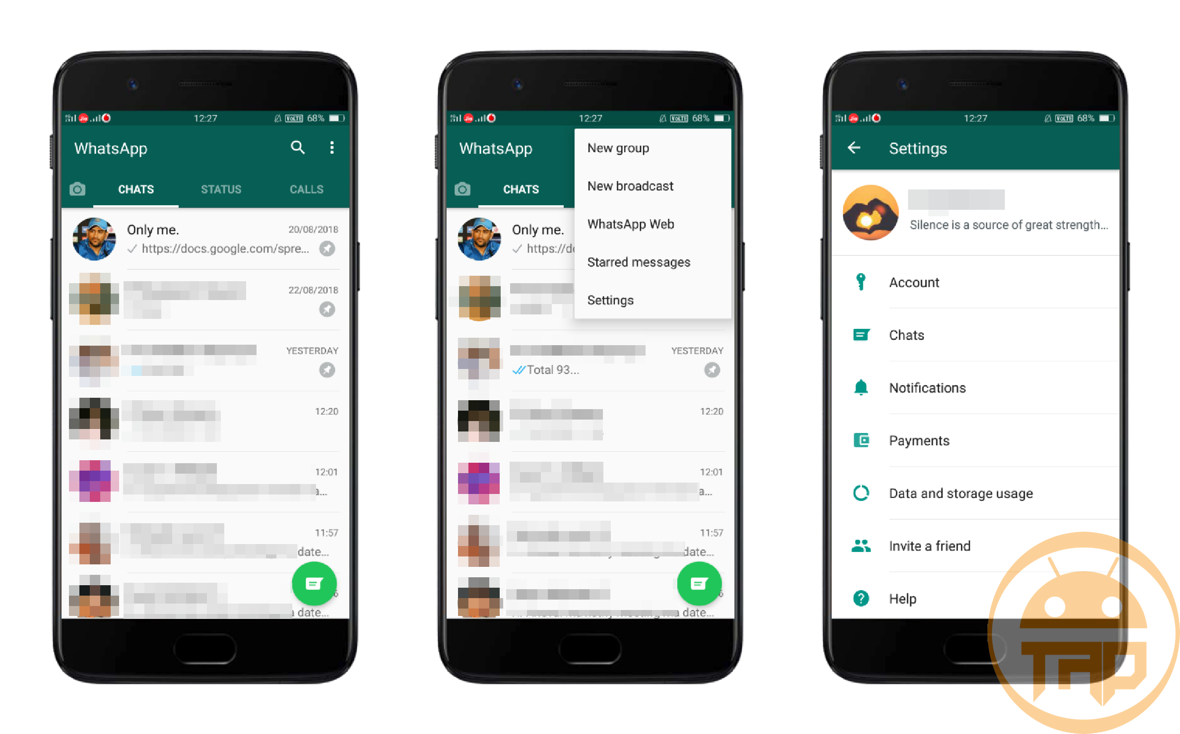 Update text Status 1 - WhatsApp - theandroidportal.com