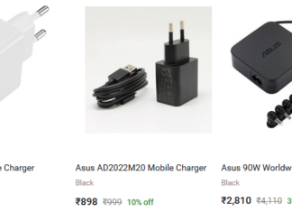 ASUS Mobile Chargers on FlipKart