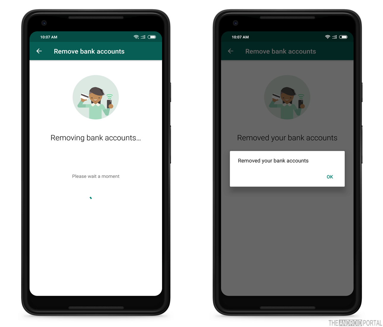 Delete Bank Account from WhatsApp Pay