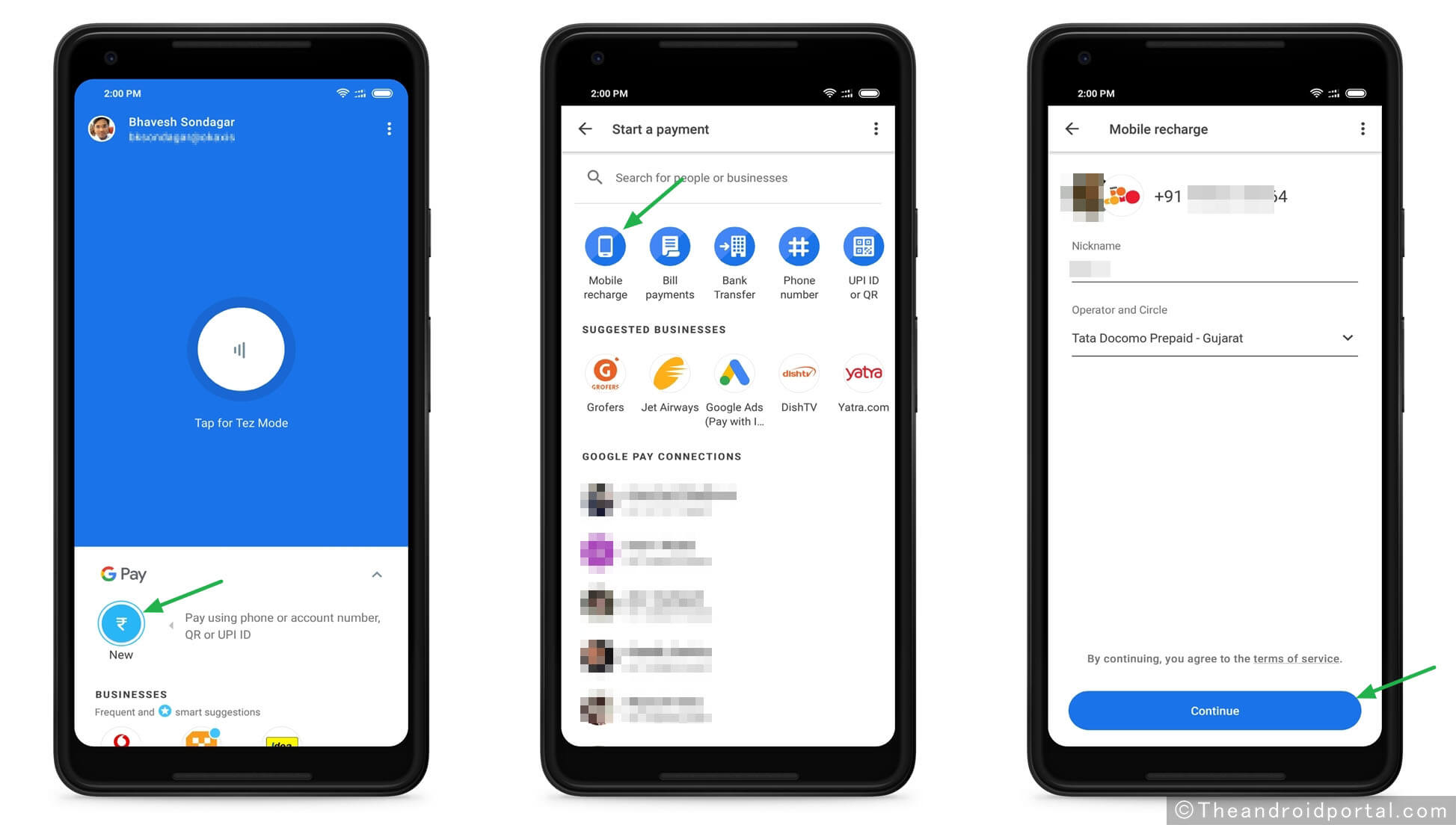 Use Google Pay to Recharge Mobile