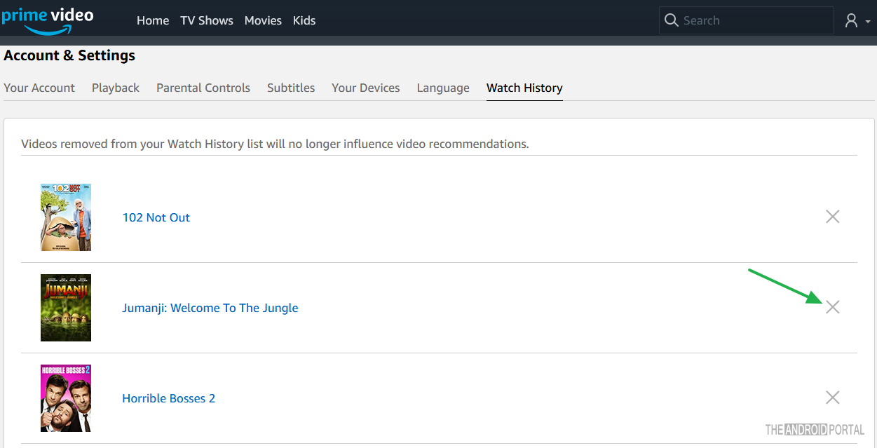 How to Delete Viewing History on Amazon Prime - TheAndroidPortal