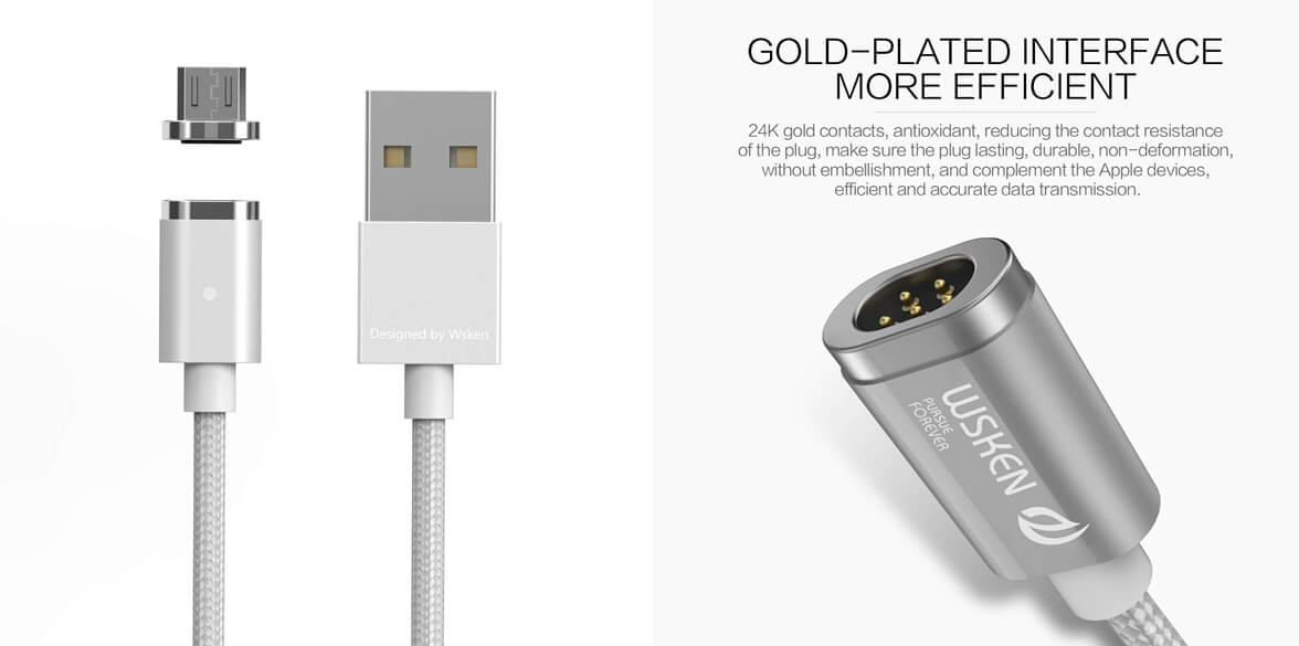 Best Magnetic Charging Cables - Wsken Mini 2 Micro USB Cables
