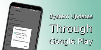 System Updates Through Google Play