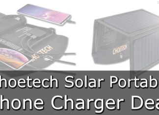 Choetech Solar Portable Phone Charger Deal