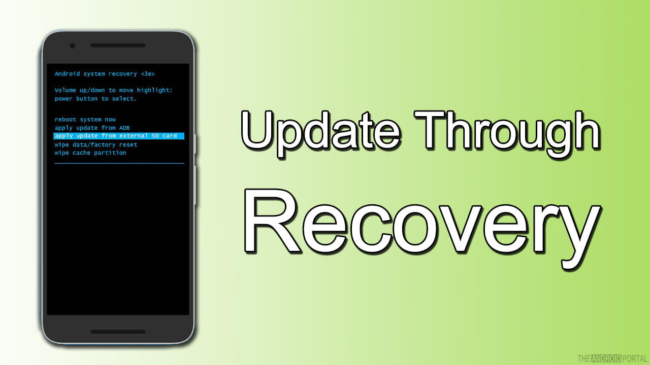 update throught recovery