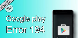 how to fix google play error194