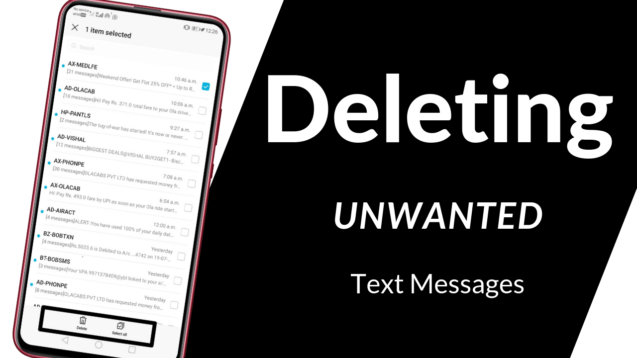 Deleting Unwanted Text on Android