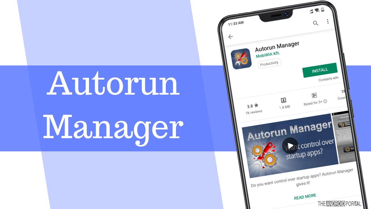 Autorun Manager Android App