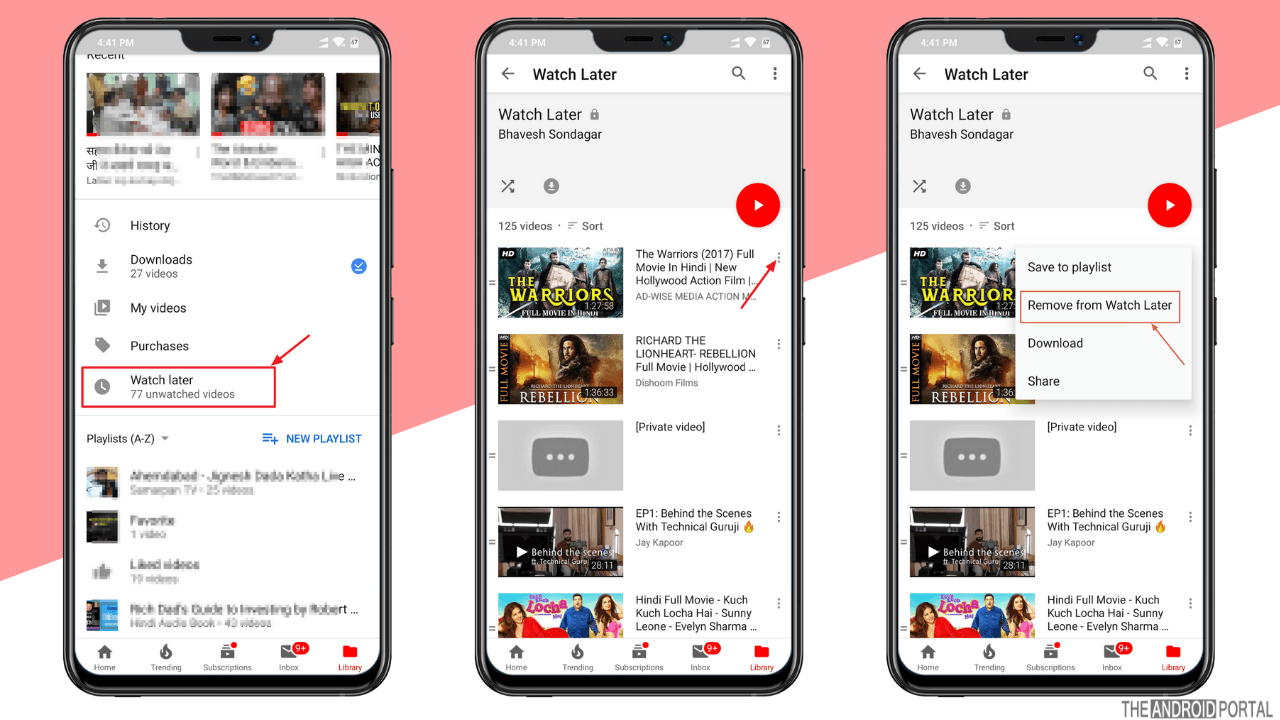 how to delete watch later on youtube