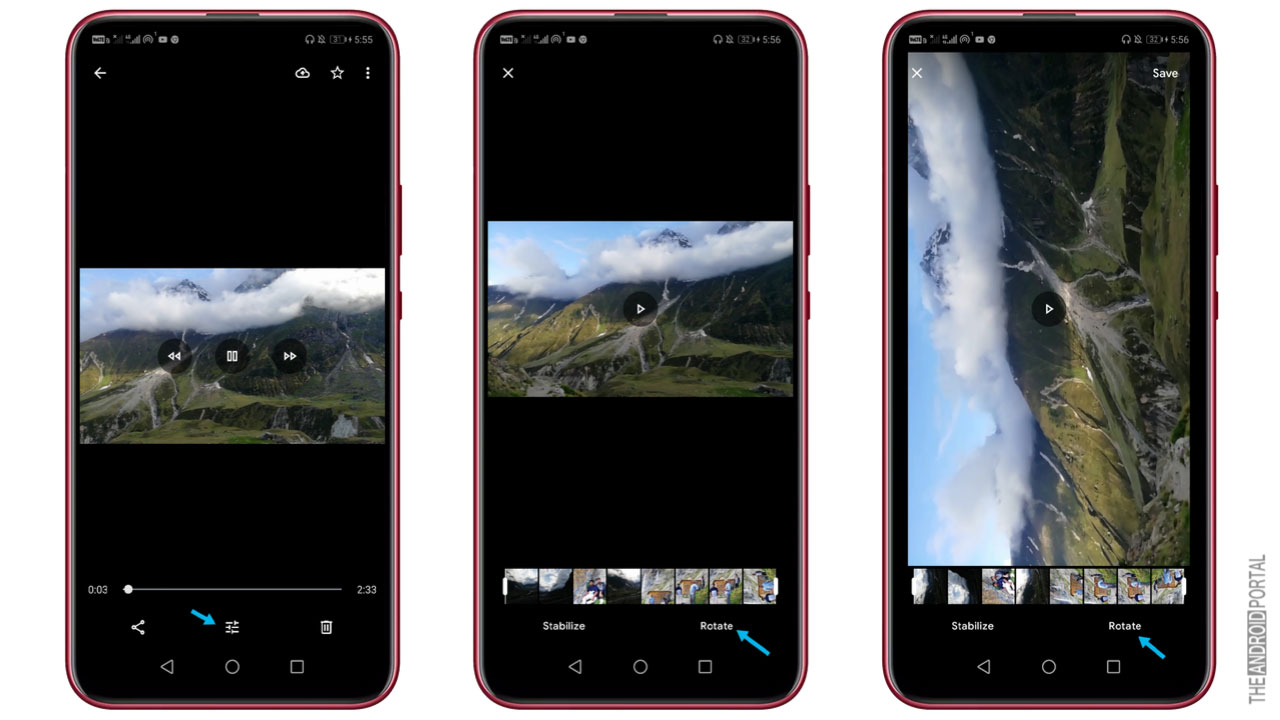 How To Rotate A Video In Android With The Help Of Google photos