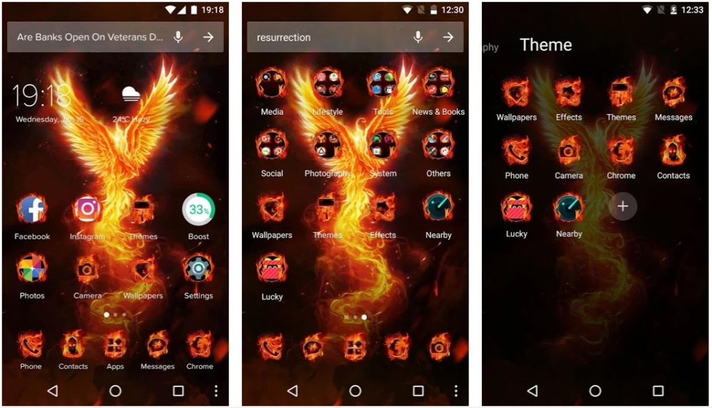 Phoenix Free Android Themes