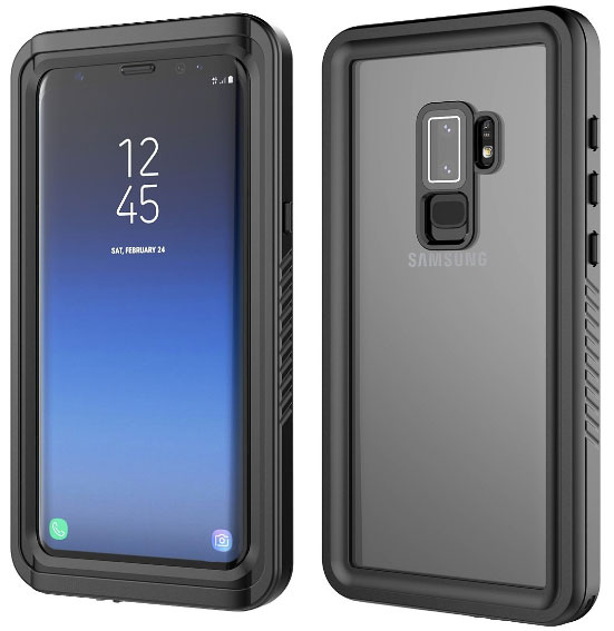 Samsung Galaxy S9 Plus Ultra Slim 360 Degree Protection Case Waterproof Dustproof Shockproof Anti Scratch Full Body Protection Bumper Shell