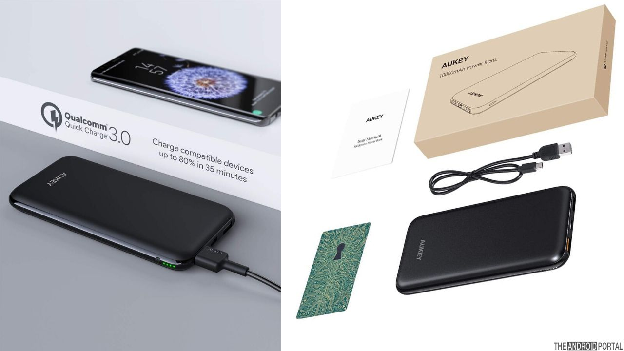 AUKEY 10000 mAh Power Bank With Quick Charge 3.0