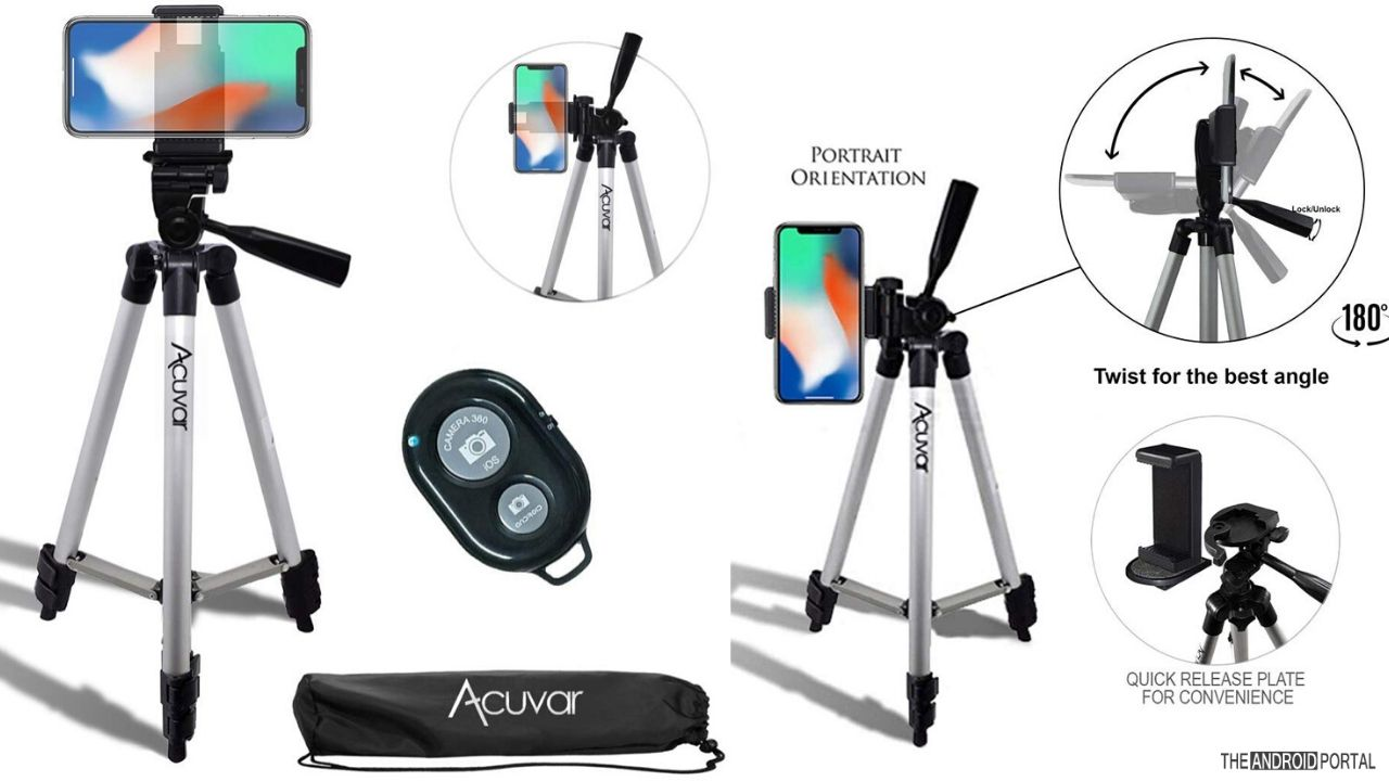 Acuvar 50 Universal Tripod Smartphone Attachment