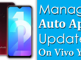 How To Manage Auto App Updates On Vivo Y12