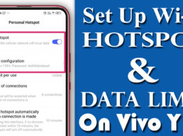 How To Set Up Wi-Fi Hotspot & Data Limit On Vivo Y12