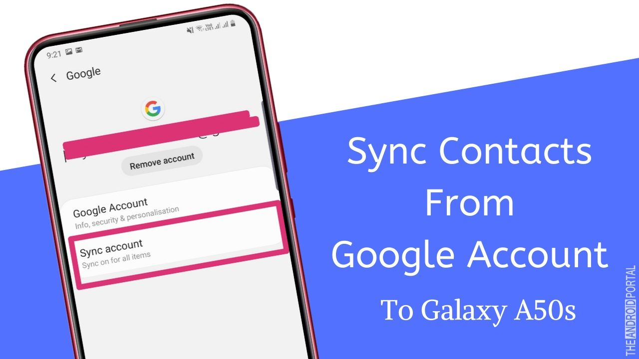 How To Sync Contacts From Google Account To Galaxy A50s
