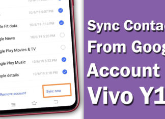How To Sync Contacts From Google Account To Vivo Y12.