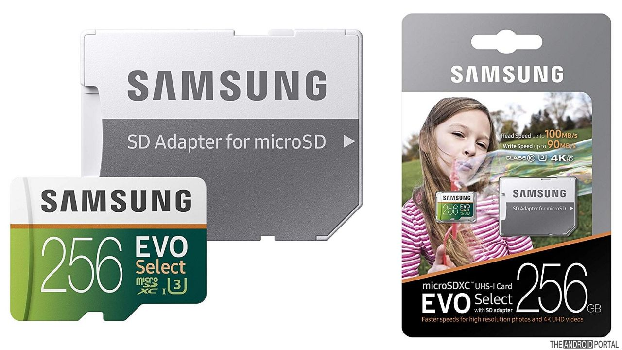 Samsung EVO Select 256GB For Storage Expansion