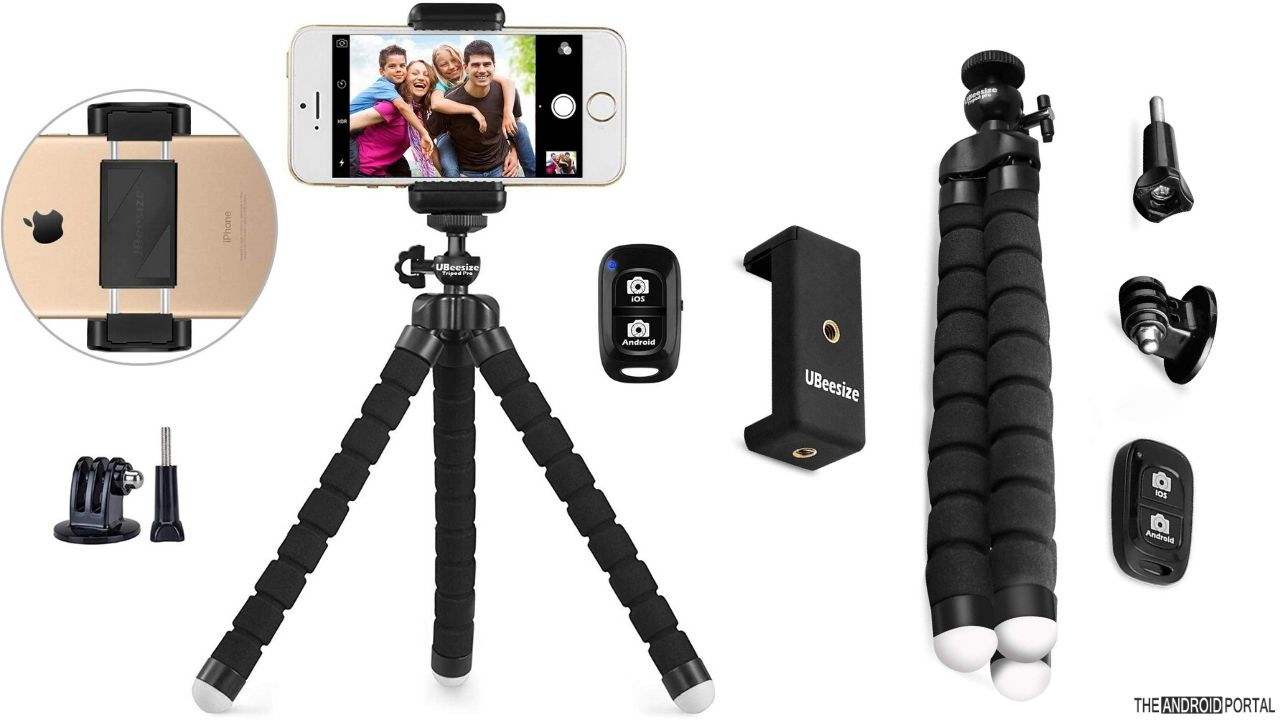 UBeesize Adjustable And Portable Smartphone Tripod