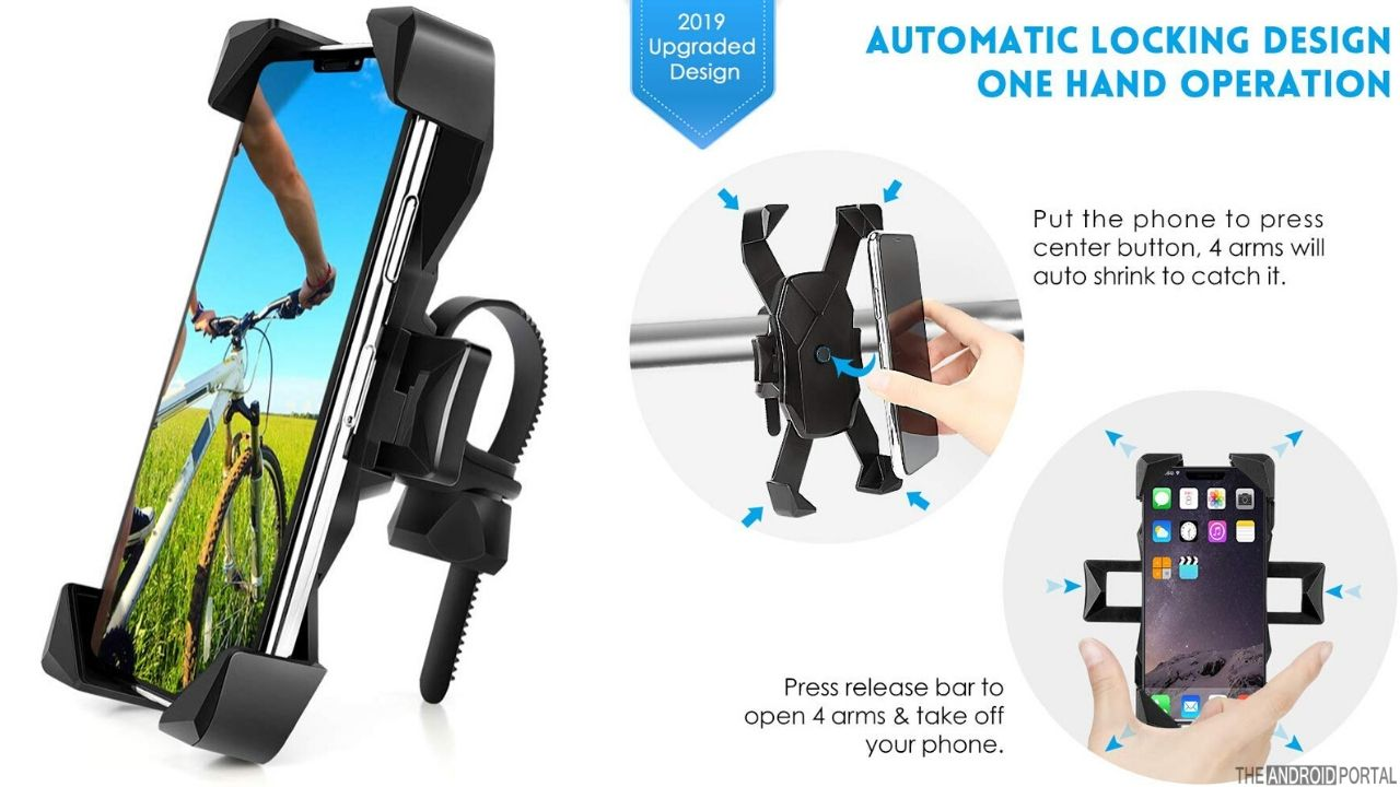 AONKEY One Touch Release Bike Phone Mount