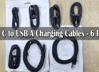 USB C to USB A Charging Cables - 6 Pack