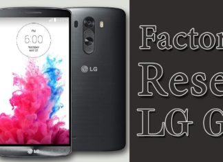 How To Factory Reset LG G3 Phone