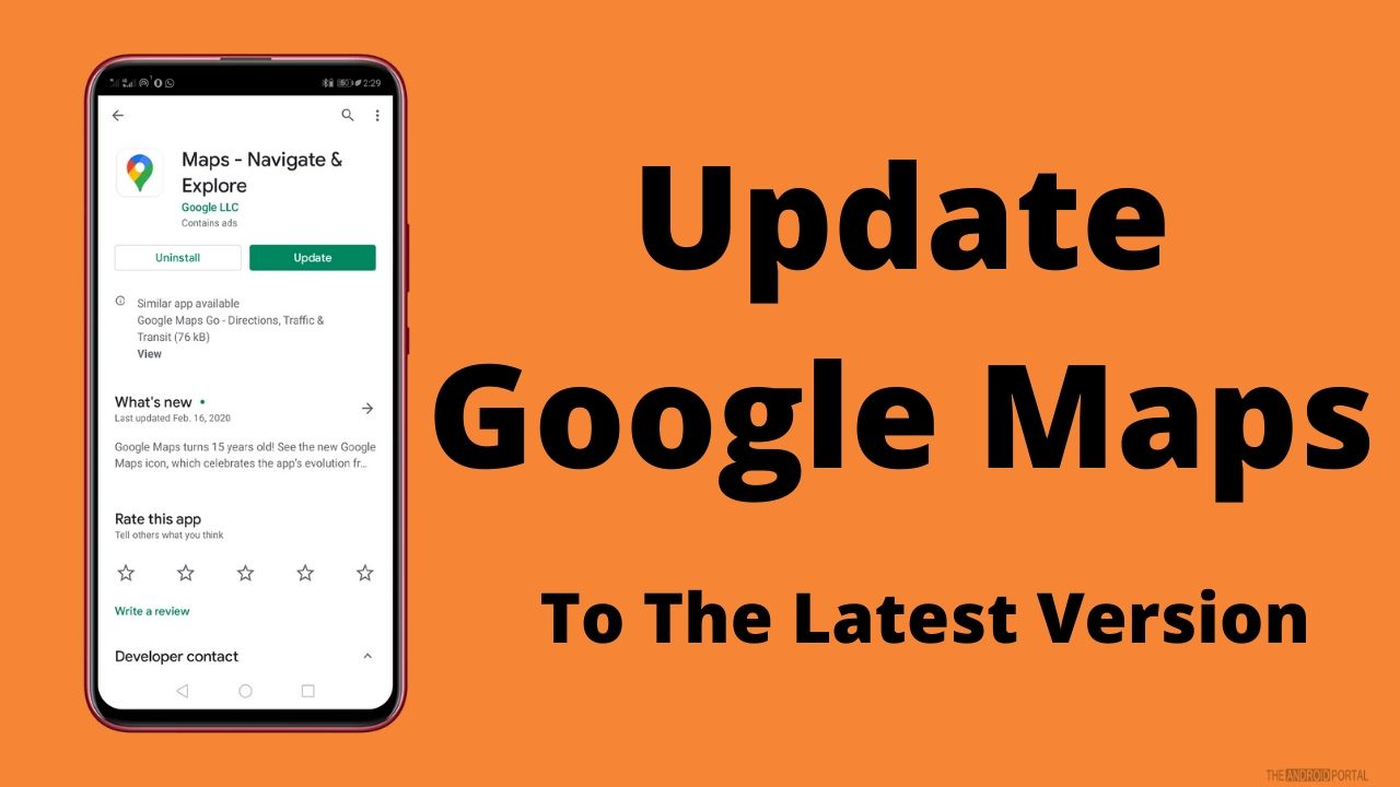 Update Google Maps To The Latest Version