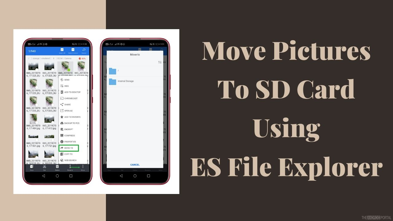 Move Pictures To SD Card Using ES File Explorer