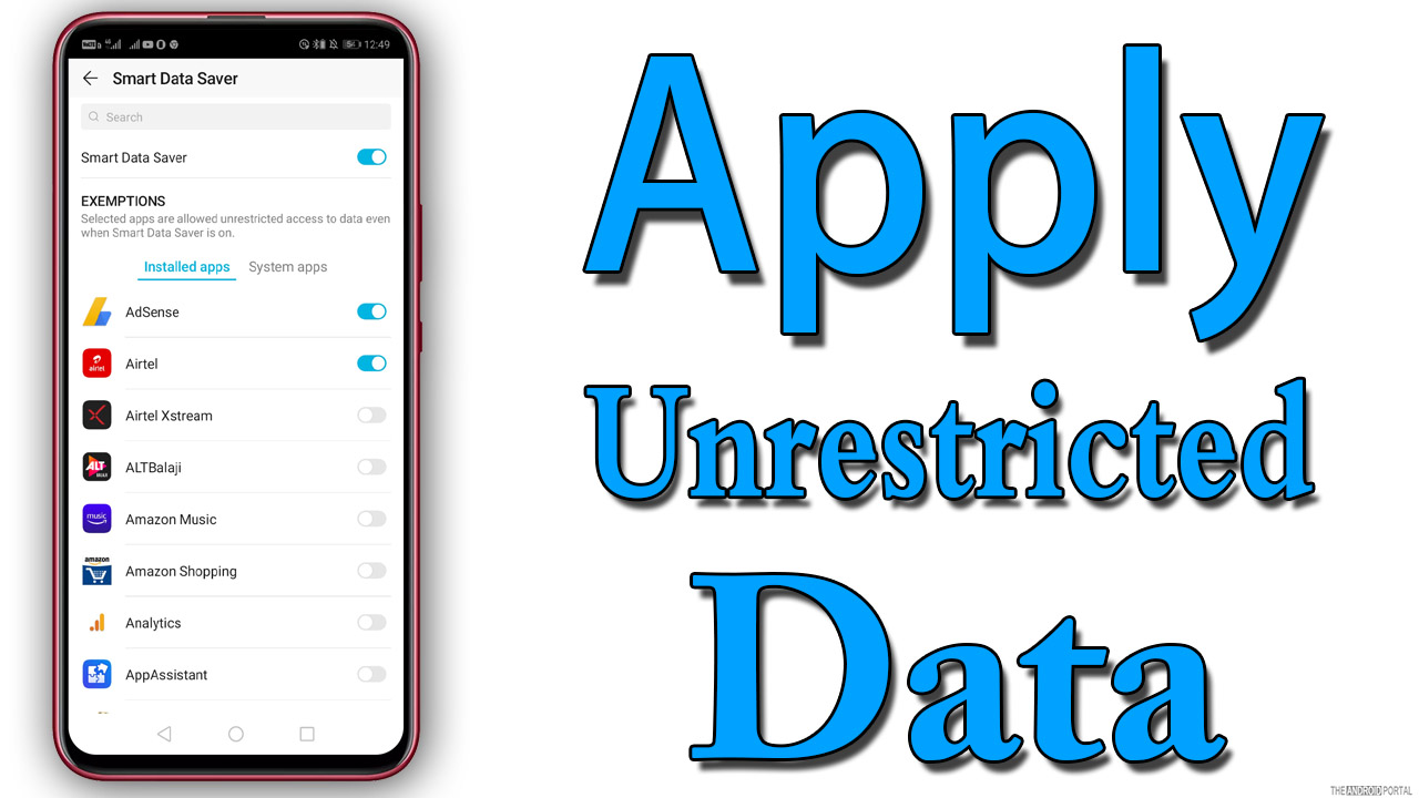 Apply Unrestricted Data