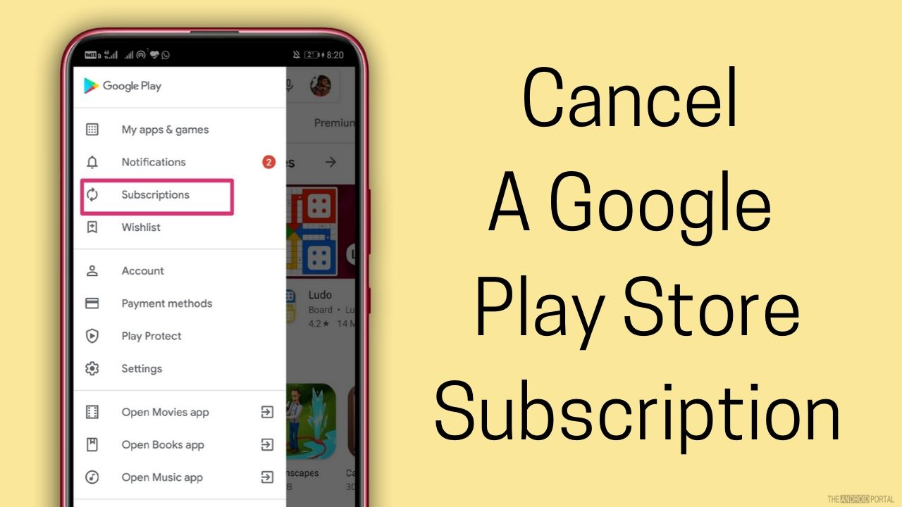 Cancel A Google Play Store Subscription