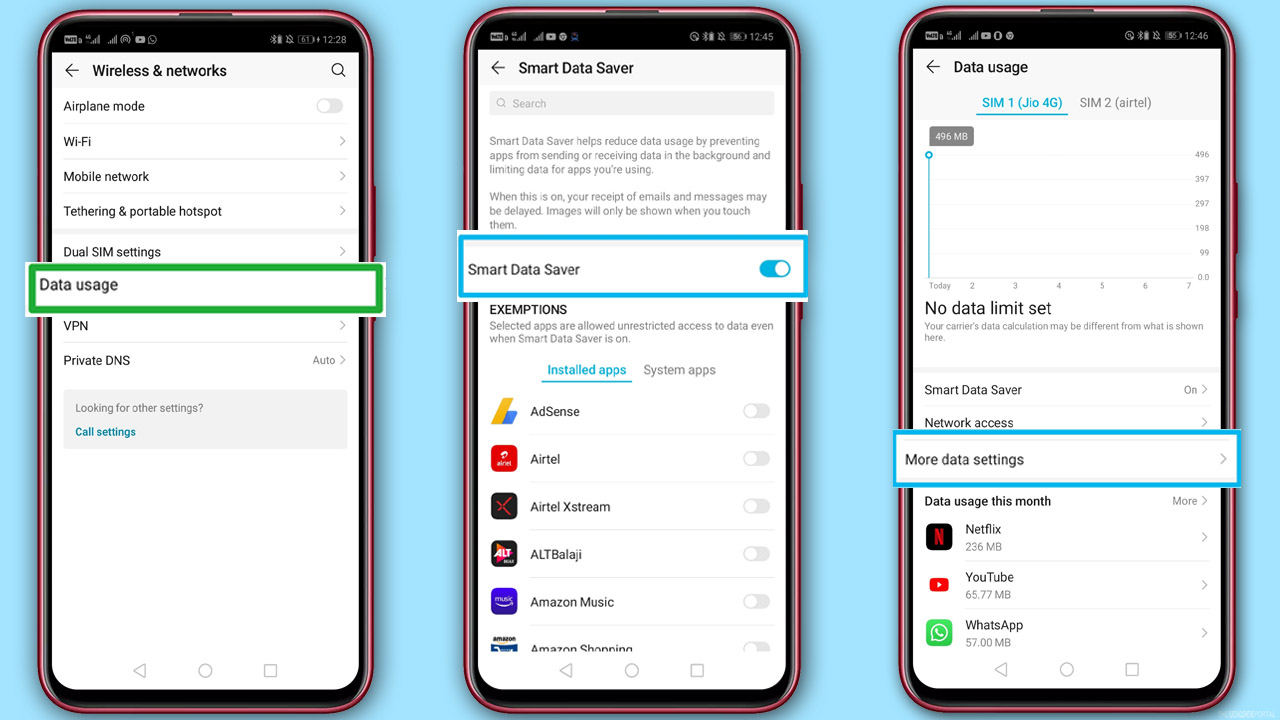 How To Use Less Mobile Data on Your Android Device