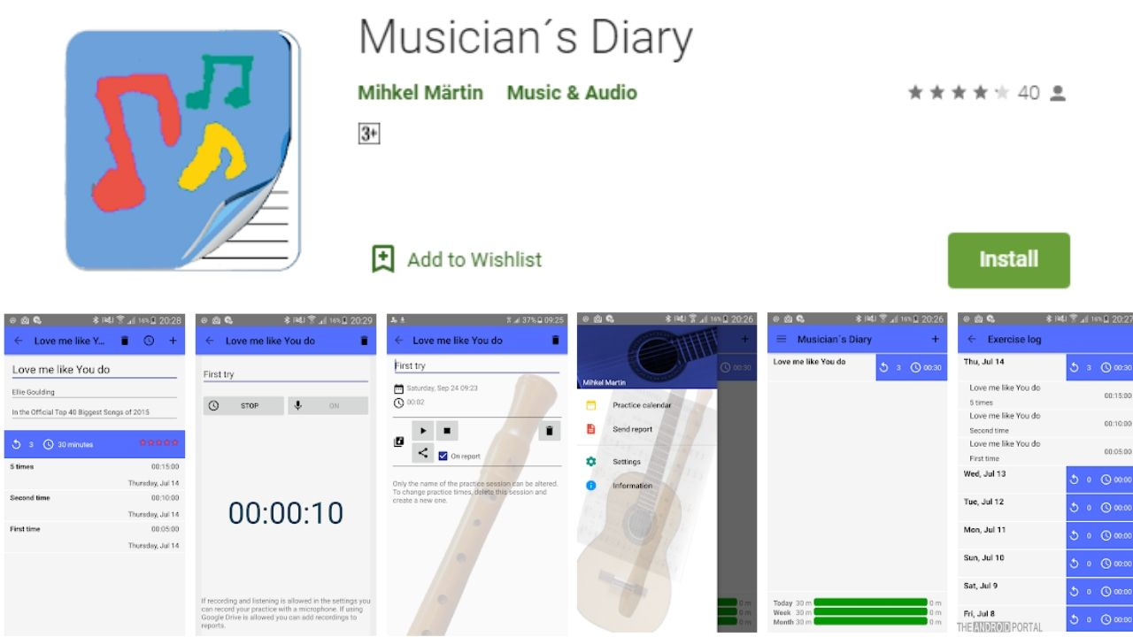 Musicians Diary