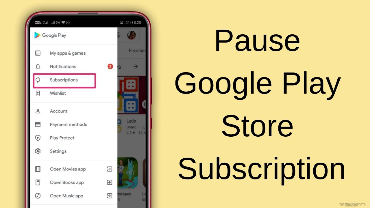 Pause Google Play Store Subscription