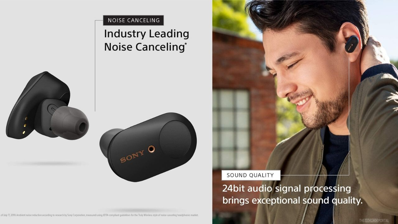 Sony WF- 1000XM3 Industry Leading Noise Cancelling Wireless Earbuds