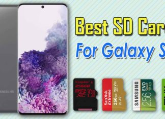 Best SD cards for Samsung Galaxy S20..1