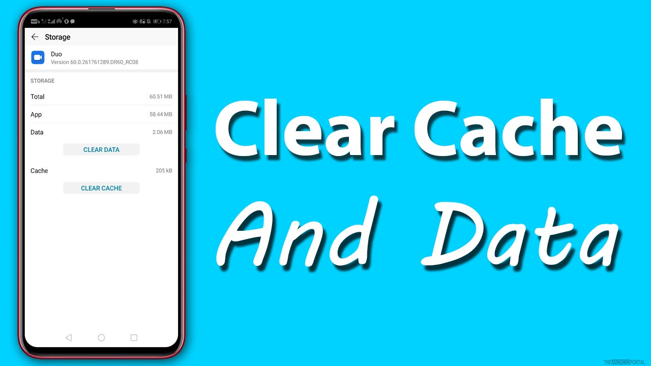 Clear Cache and Data