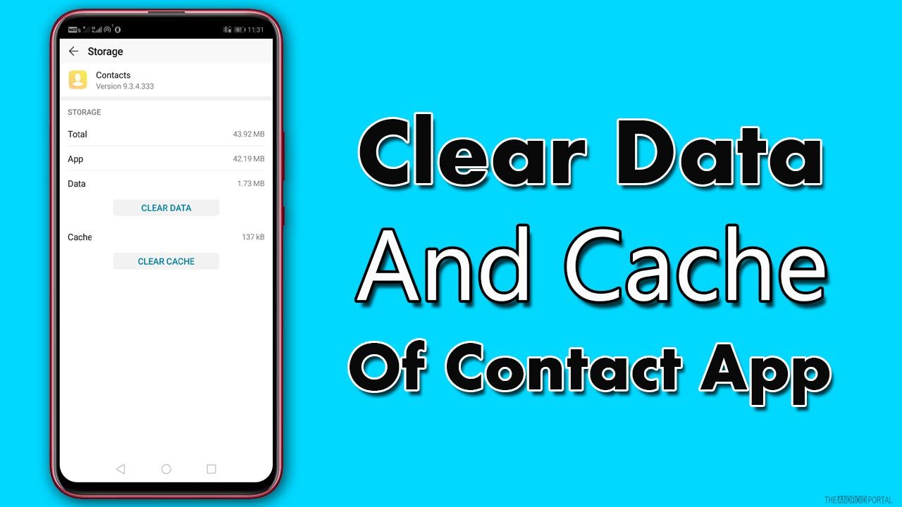 Clear Data And Cache Of Contact App