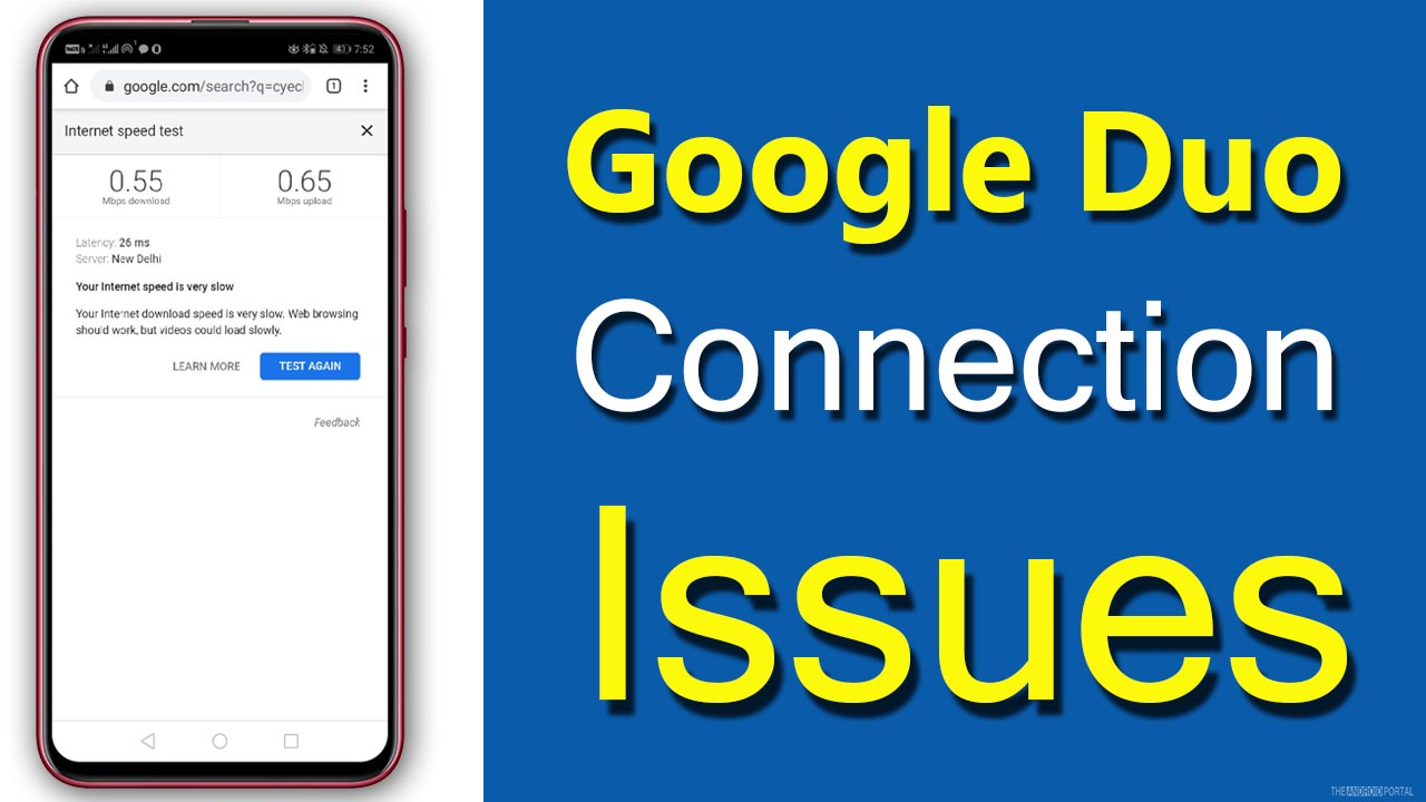 Google Duo Connection Issues