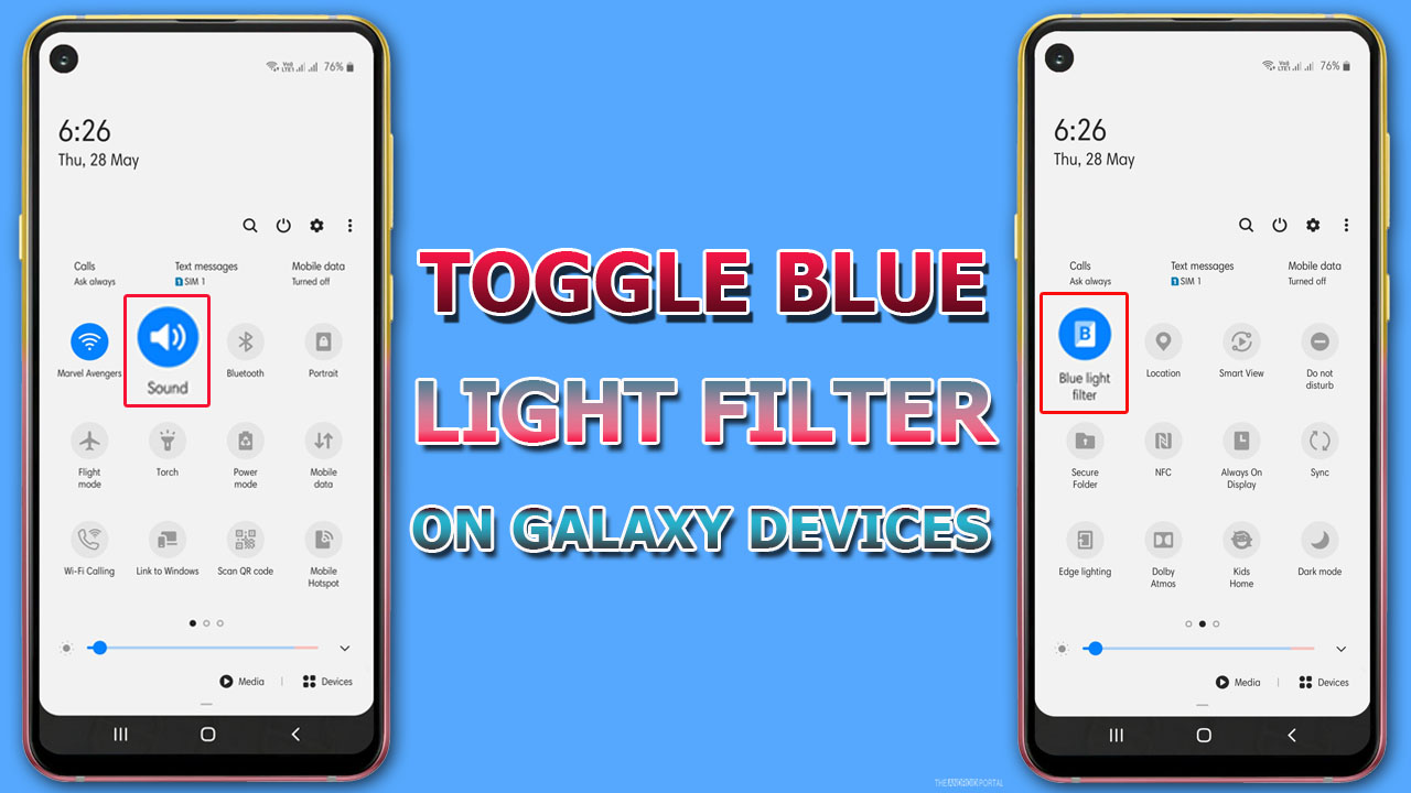 Guide To Toggle Blue Light Filter On Galaxy Devices1