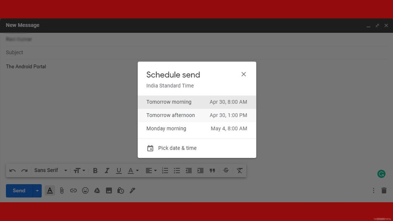 How To Use Gmail Schedule Send Feature on Desktop..