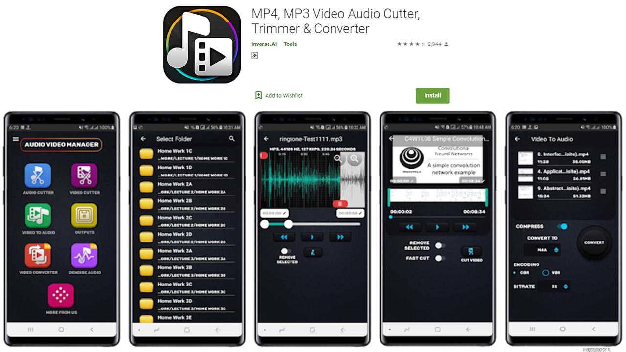 MP4, MP3 video Audio Cutter, Trimmer And Convertor
