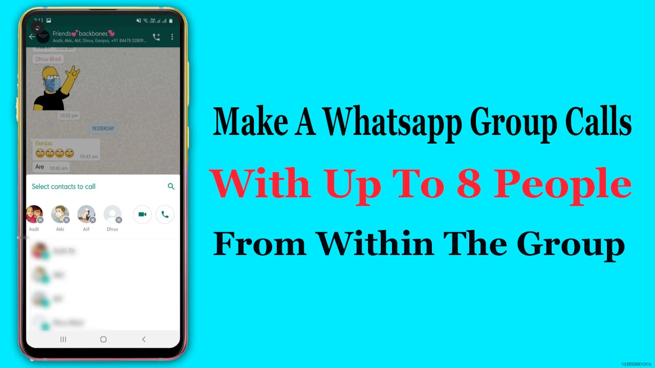 Make A Whatsapp Group Calls With Up To 8 People From Within The Group