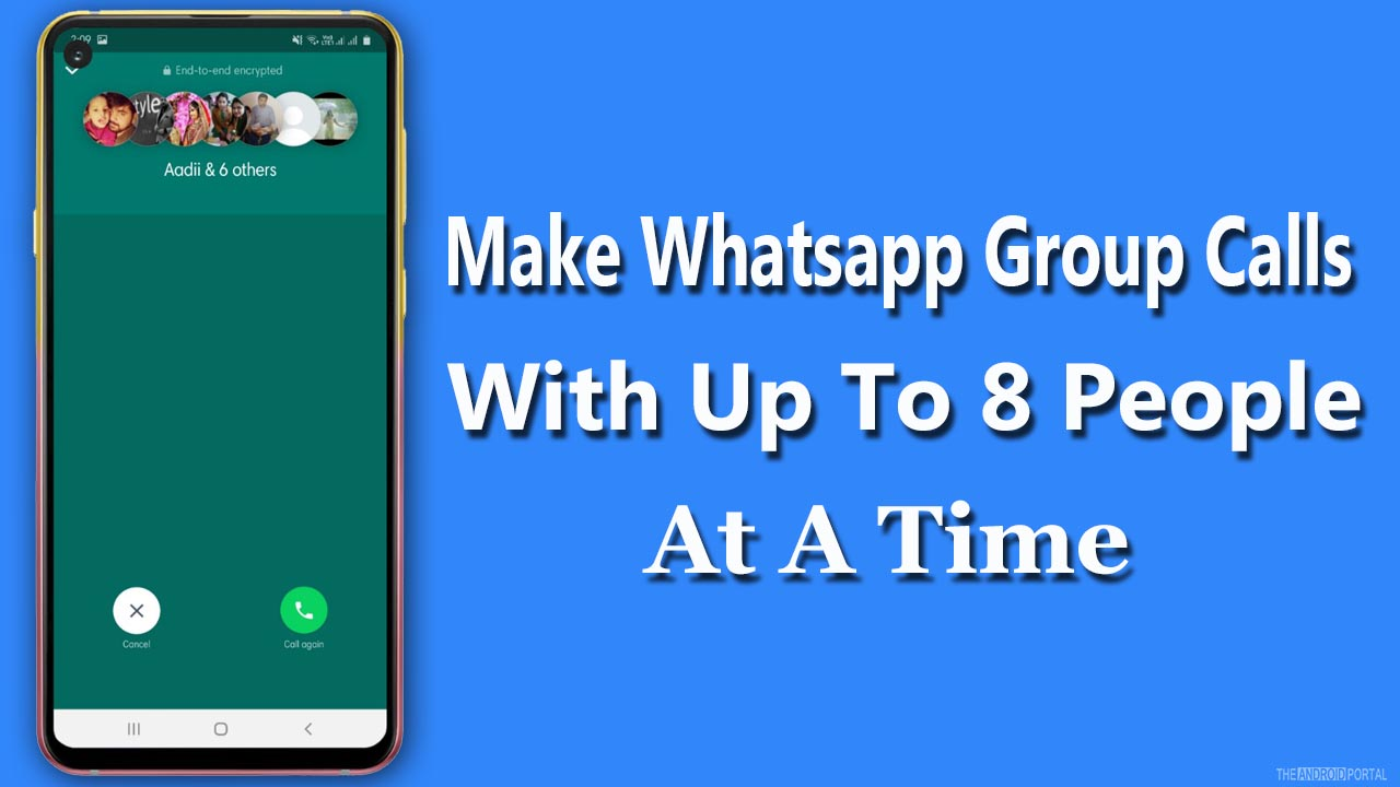 Make Whatsapp Group Calls With Up To 8 People At A Time