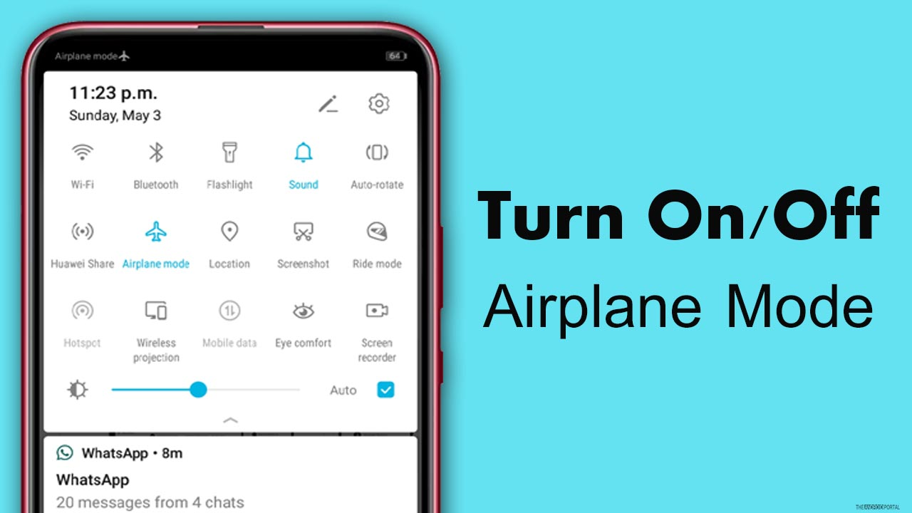 Turn On Off The Airplane Mode