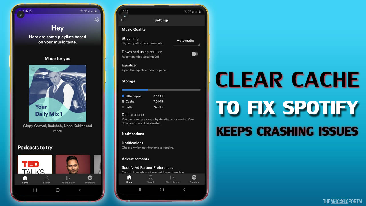 Clear Cache To Fix Spotify Keeps Crashing Issues