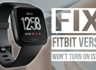 How To Fix Fitbit Versa Won't Turn On Issue