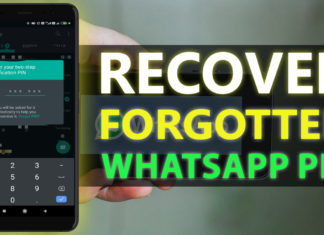 How To Recover Forgotten Whatsapp Pin